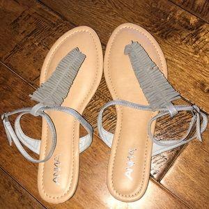 Gray Anna ankle strap sandal size 10